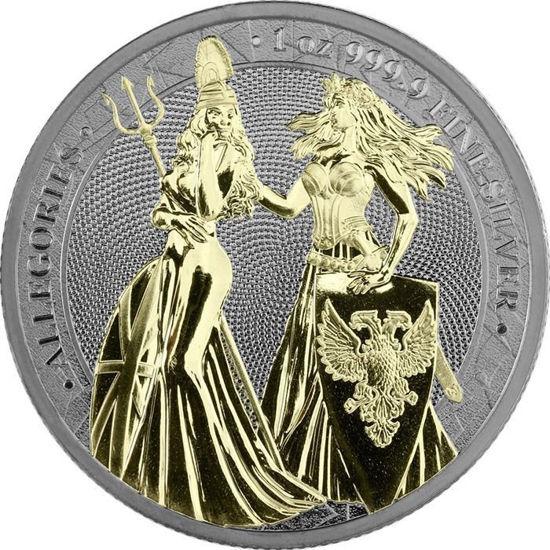 Picture of Срібна монета «Алегорії» Black Gold Space -  Germania Allegories 2019 1 унція