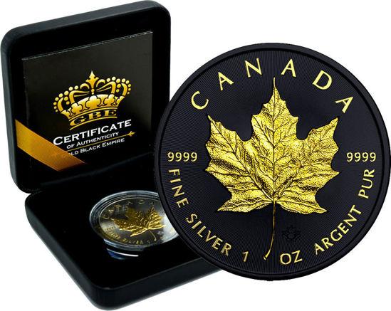 "Picture of Срібна монета ""Канадський Кленовий Лист""  Gold Black Empire"