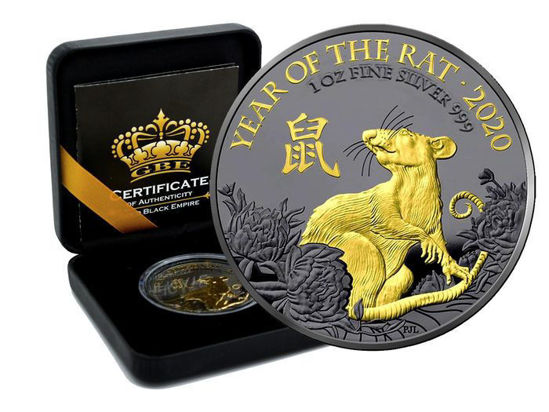 "Picture of Срібна монета ""Рік ЩУРА 2020"" Gold Black Empire"