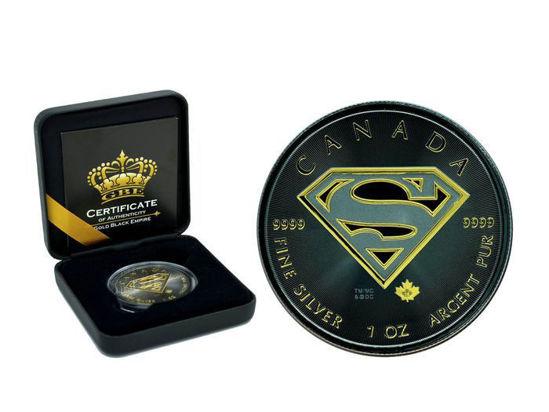 "Picture of Срібна монета ""Щит з символом Супермена"" Канада Gold Black Empire"