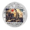"Picture of Срібна монета ""Свобода, що веде народ - Делакруа"" серії Шедеври мистецтва 2013 рік 20$ Острова Кука"