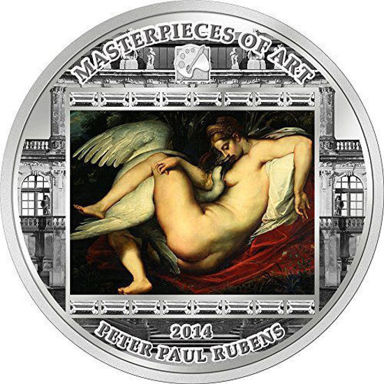 "Picture of Серебряная монета ""Леда и Лебедь - Рубенс "" серии Шедевры искусства 2014 год 20$ Острова Кука"