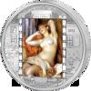 """Picture of Срібна монета """"Спляча купальщиця - Ренуар"""" серії Шедеври мистецтва 2012 рік 20$ Острова Кука"""