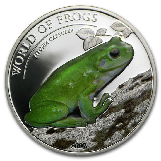 """Picture of Срібна монета """"Зелена деревна жаба"""" серія Світ Жаб 15,5 грам, Палау 2013 р"""