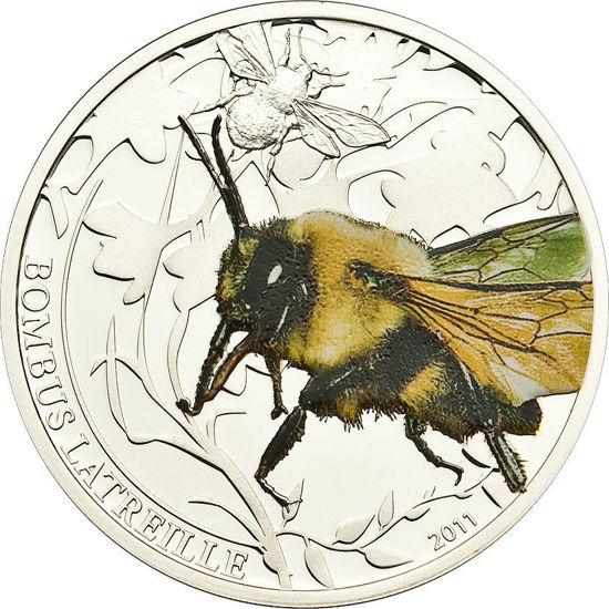 """Picture of Срібна монета """"Волохатий Джміль"""" серія Світ комах 15,5 грам, Палау 2011 р"""