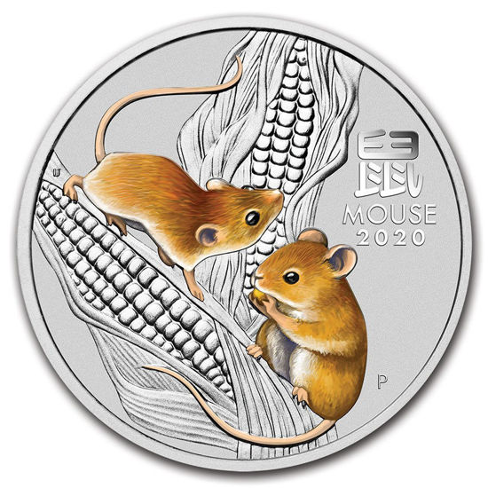 "Picture of Cеребряная монета Австралии Lunar III ""Год Крысы - Мыши"" 31,1 грамм, 2020 г."