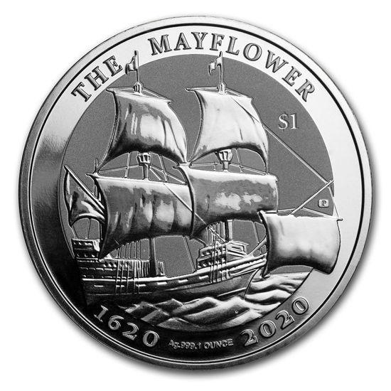"Picture of Серебряная монета ""Майфлауэр 400-летие - The Mayflower"" 31.1 грамм 2020 г."