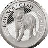 """Picture of Срібна монета """" Бенгальський Тигр"""" 31,1 грам 2019 р."""