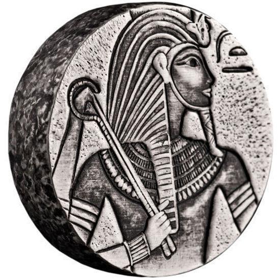 """Picture of Срібна монета """"фараон Тутанхамон - Єгипетська реліквія"""" 155,5 грам 2016 р."""