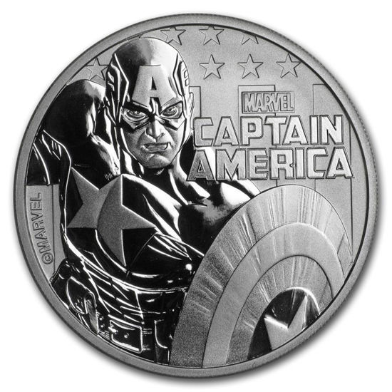 Picture of  Срібна монета Марвел «Капітан Америка» 2019 (Marvel's Captain America)