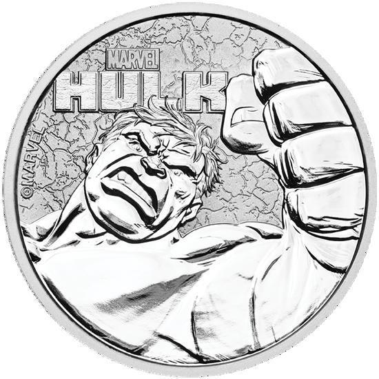 Picture of Серебряная монета Марвел «Халк» 2019 (Marvel's Hulk)