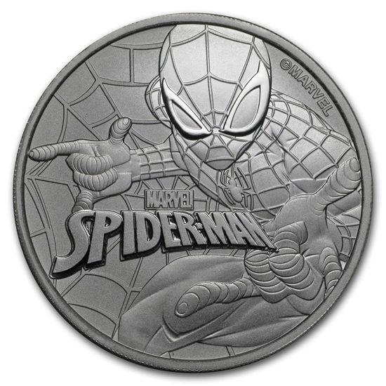 Picture of Серебряная монета Марвел «Человек - паук» 2017 (Marvel's Spiderman)