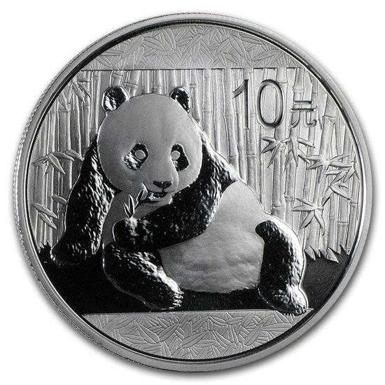 "Picture of Серебряная монета ""Китайская Панда"" 2015 г. 31.1грамм"