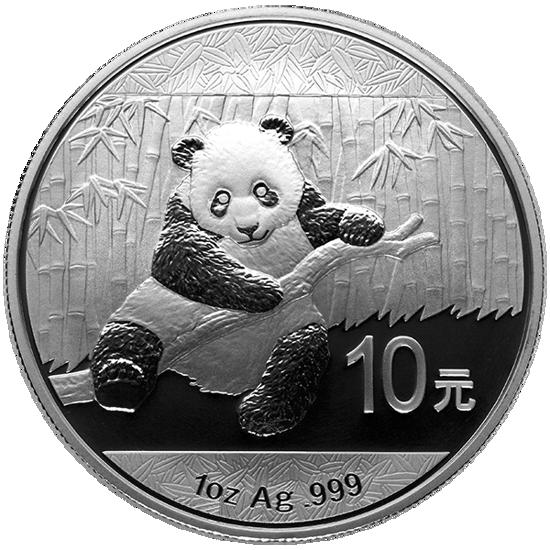 "Picture of Серебряная монета ""Китайская Панда"" 2014 г.  31.1грамм"