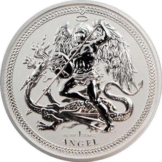 "Picture of Серебряная монета ""Ангел"" 31,1 грамм 2018 г. Остров Мэн"