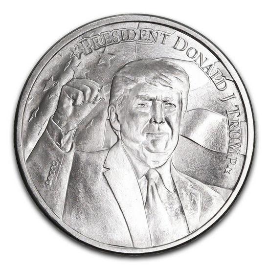 "Picture of Серебряный раунд  ""Дональд Трамп 2020""  31.1 грамм"