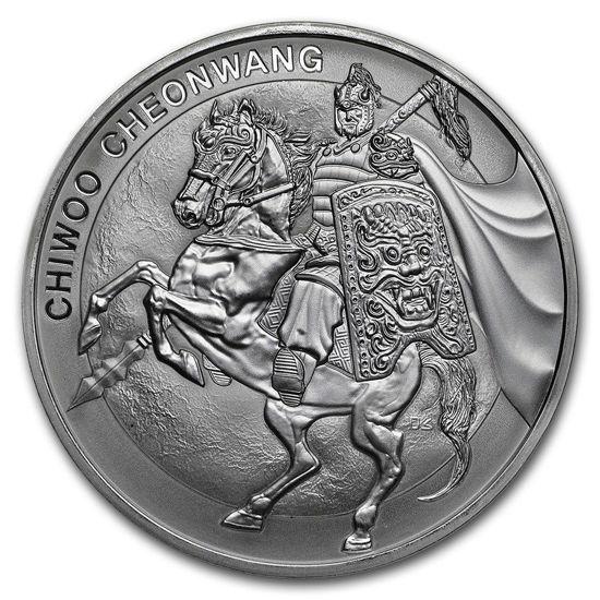 "Picture of Серебряная монета""Воин Чиву - Chiwoo Cheonwang"" 31,1 грамм 2017 г. Южная Корея"