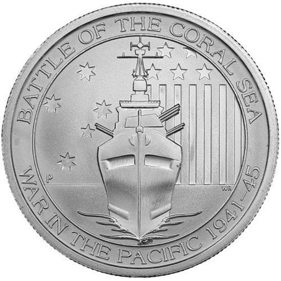 "Picture of  Срібна монета ""Битва за Коралове море"" 15.5 грам"