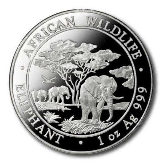 """Picture of Слон - серия """"Африканская Дикая Природа"""" 31,1 грамм, 2012"""