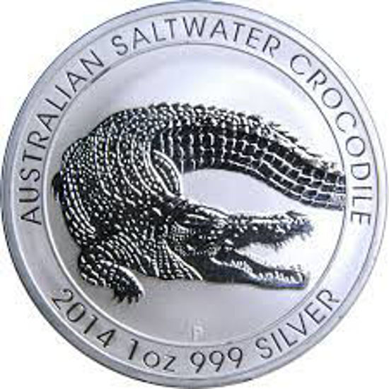 """Picture of Серебряная монета """"Австралийский морской крокодил"""" 2014  31,1 грамм"""