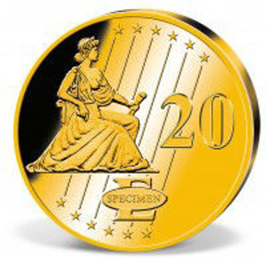 """Picture of  Золотий раунд """"20 Евро - Дуб"""" 0,5 грам"""