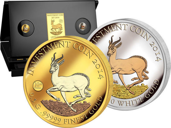 """Picture of Інвестиційний набір монет """"Крюгерранд - Springbock"""" 2014"""