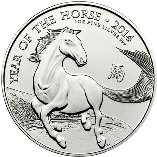 """Picture of Срібна монета """"Рік Коня"""" 31,1 грам 2014 р."""