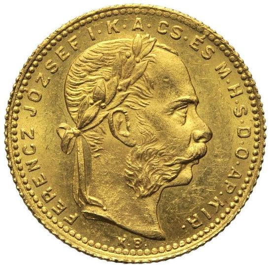 Picture of Золота монета «Угорщина 8 форинтів» 1888р