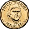 """Picture of США 1 доллар 2007, 3 президент Томас Джефферсон (1801—1809), """"Серия Президентов"""""""