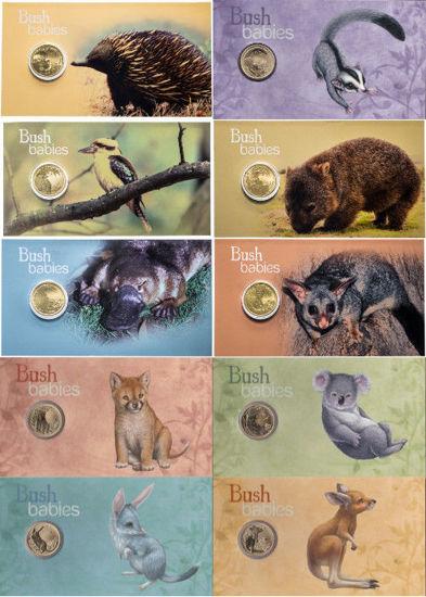 "Picture of Австралія набір з 10 монет 1 долар 2011-2013 ""Дитинчата диких тварин"""