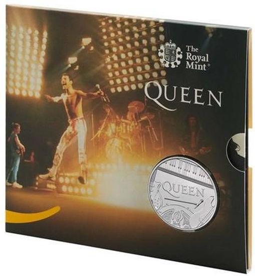 Picture of Англия, Великобритания 5 фунтов 2020. «Queen» - британская рок-группа