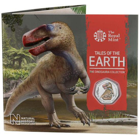 Picture of Англия, Великобритания 50 пенсов 2020. Мегалозавр. Цветная эмаль
