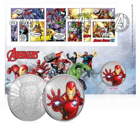 Picture of Англия, Великобритания. Мстители: Железный Человек. Медаль по комиксу МАРВЕЛ (Iron Man)