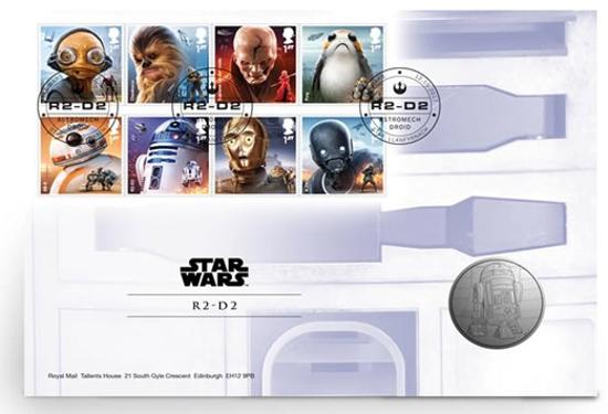Picture of Англія, Великобританія. Зоряні війни: Дроид R2-D2. Медаль Star Wars: droid R2-D2