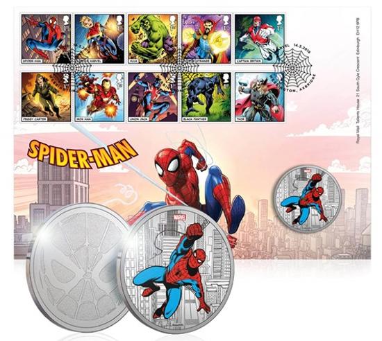 Picture of Англия, Великобритания. Человек-Паук. Медаль по комиксу МАРВЕЛ (Spider-Man)