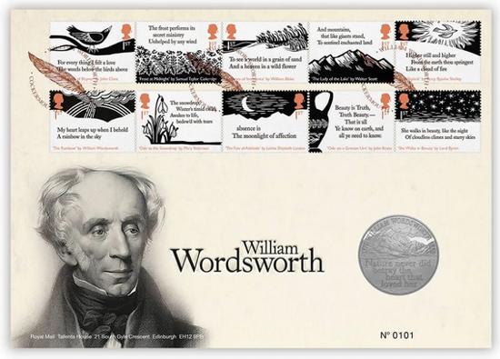 Picture of Англія, Великобританія, 5 фунтів 2019 250 років від дня народження Вільяма Вордсворта. Конверт першого дня