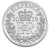 Picture of Англия, Великобритания, 6 пенсов 2019 Рождество. Серебро 3,35 гр.