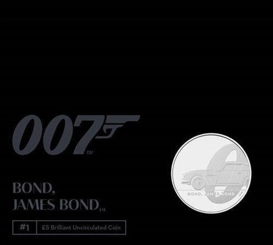 """Picture of Англія, Великобританія, 5 фунтів 2020 Джеймс Бонд """"Агент 007"""" (в буклеті). І тип"""