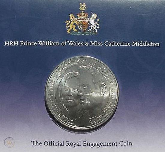 Picture of Англия, Олдерни, 5 фунтов 2010, Помолвка Принца Уильяма и Кэтрин Миддлтон (в буклете)
