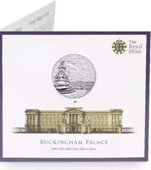 Picture of Англія, Великобританія, 100 фунтів 2015 року, Букінгемський палац. Срібло 62,86 гр. блістер