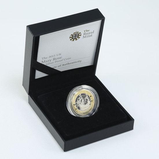 "Picture of Англия, Великобритания, 2 фунта 2011 ""Парусный Корабль Мэри Роуз"". Серебро 12 гр."