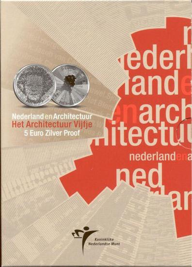 Picture of Нідерланди 5 євро 2008, Архітектура Нідерландів. Срібло 11,9 гр. Proof