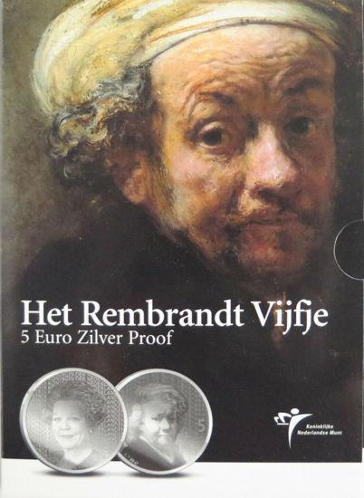 Picture of Нидерланды 5 евро 2006, 400 лет со дня рождения Рембрандта. Серебро 11,9 гр. Proof