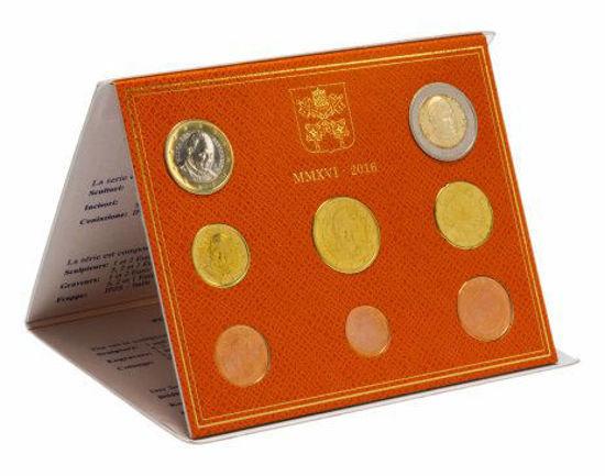 Picture of Ватикан Годовой набор монет евро 2016 (8 монет в буклете)