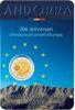 Picture of Андорра 2 евро 2014, 20 лет в совете Европы (в блистере)