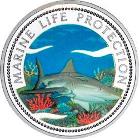 """Picture of Палау 1 долар 1999 року, """"Акула, Серія"""" Захистимо морський світ"""""""