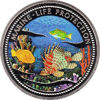 """Picture of Палау 1 доллар 2000, """"Лев и попугай, Серия """"Защитим морской мир"""""""