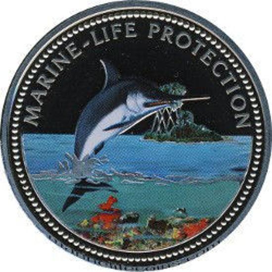 """Picture of Палау 1 доллар 2000, """"Рыба-мечь, Серия """"Защитим морской мир"""""""