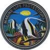 """Picture of Палау 1 долар 2001, """"Риба Мавританський ідол, Серія"""" Захистимо морський світ"""""""