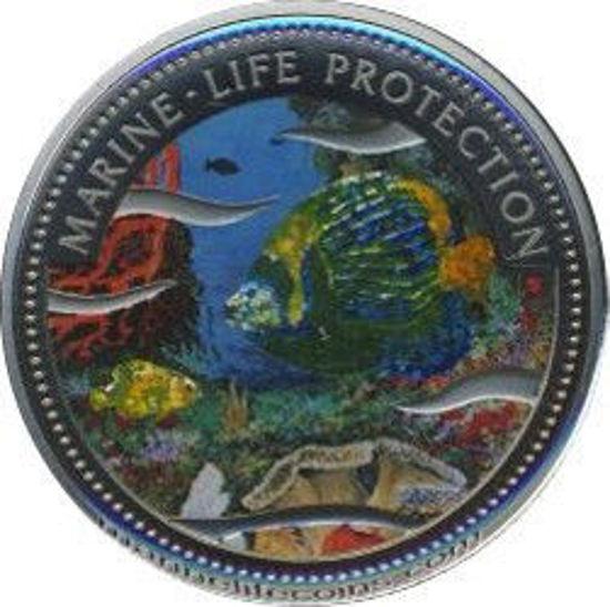 """Picture of Палау 1 долар 2001, """"Блискуча риба, Серія"""" Захистимо морський світ"""""""